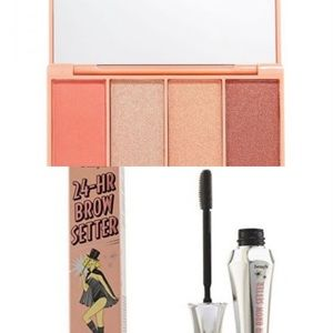 NWT Peach Eyeshadow Palette  + Benefit brow setter